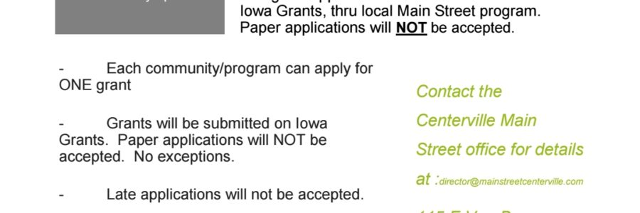 Open 4 Business Grant Opportunity 2018
