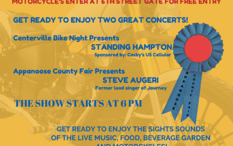 Bike Night At the Appanoose County Fair, 1 Month Only! 7.23.21